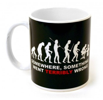 Taza mug Evolución del hombre errónea