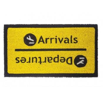 Felpudo casa Arrivals Departures logo