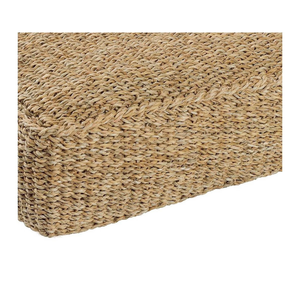 Puf cuadrado suelo fibra natural - Sillas de fibra natural ...