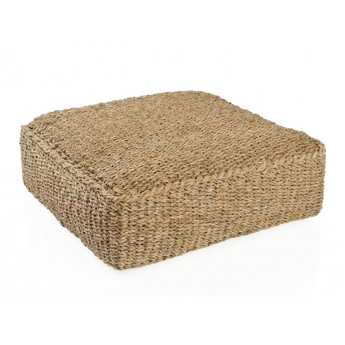 Puf cuadrado suelo fibra natural for Revisteros de suelo