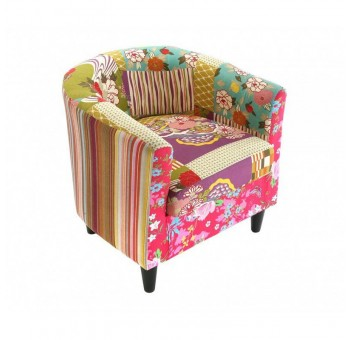 Sillón oval  patchwork multicolor