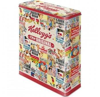 Caja metal cereales Kelloggs Corn Flakes