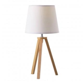 Lámpara sobremesa estilo nórdico madera haya