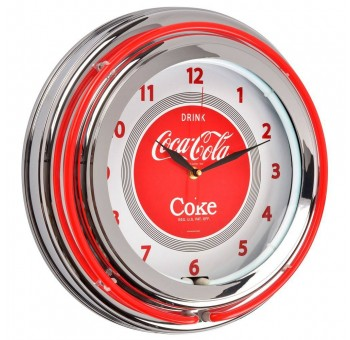 Reloj pared Neón Coca Cola retro