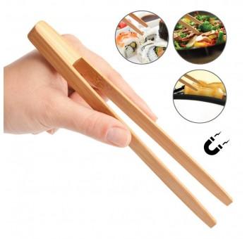 Pinza bambú para tostadas o sushi