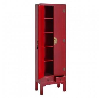 Armario Japo rojo 2 puertas 2 cajones madera colores del mundo