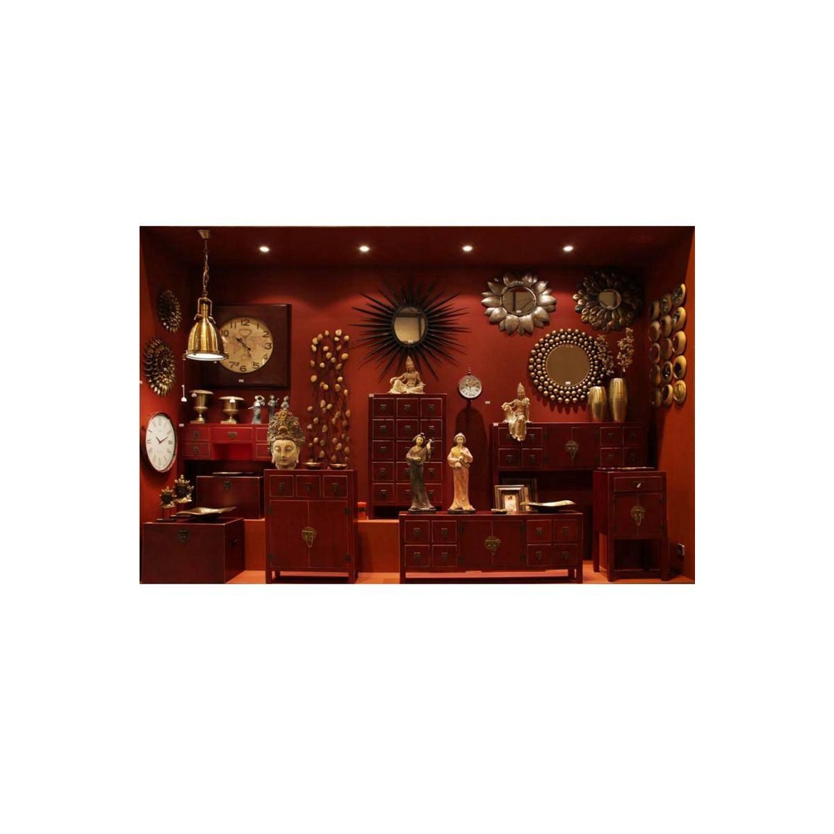 Mueble auxiliar japo rojo 15 cajones madera colores del mundo for Muebles del mundo
