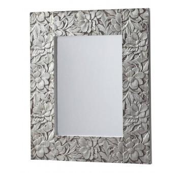 Espejo grande  madera tallada plata
