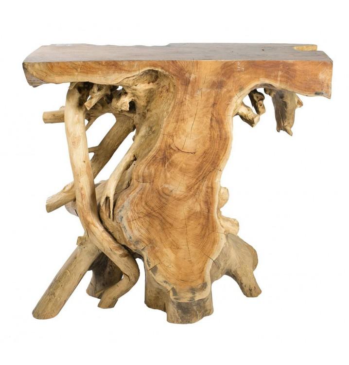 Consola Raíz natural madera teka