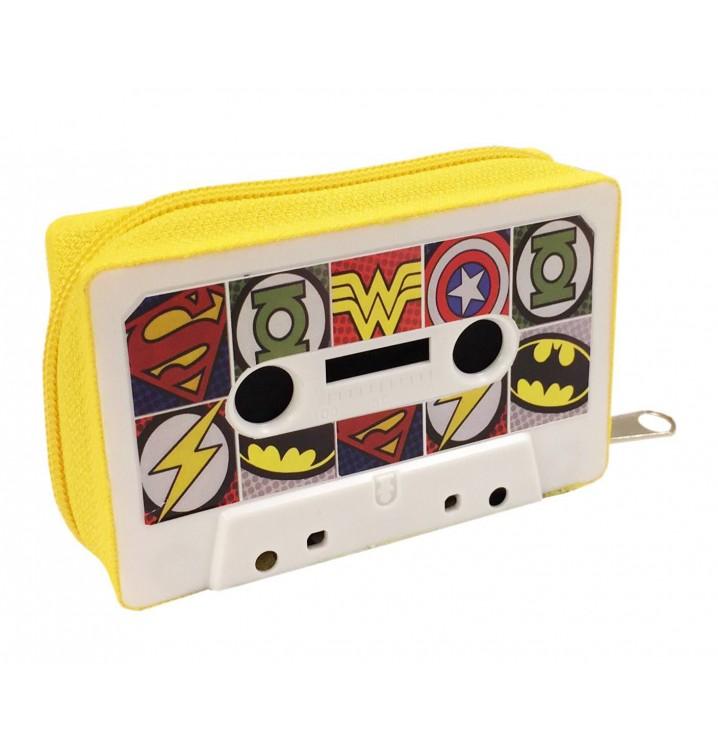 Monedero Cassette retro Superhéroes