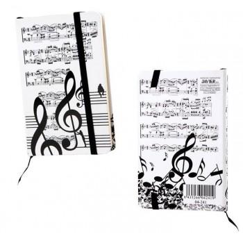 Libreta notas diseño claves musicales