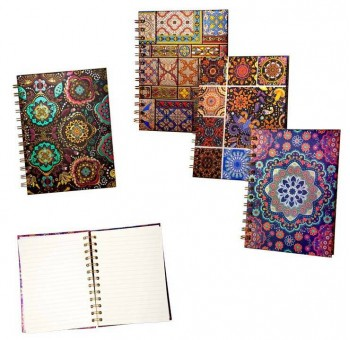 Cuaderno libreta anillas diseño arabesco