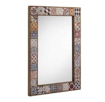 Espejo pared madera cerámica Vejar