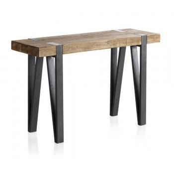 Consola madera Thick abeto y metal