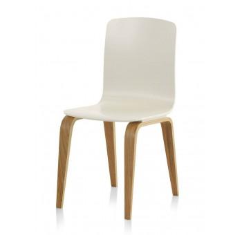 Silla madera haya Finland modelo 1 blanca