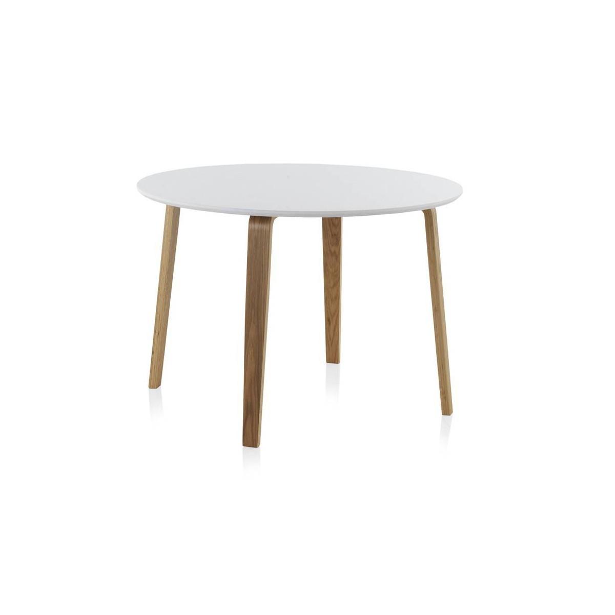Mesa redonda comedor madera haya finland modelo 1 blanca - Mesa comedor redonda ...