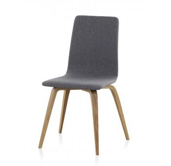 Silla madera haya Finland modelo 1 tapizado gris