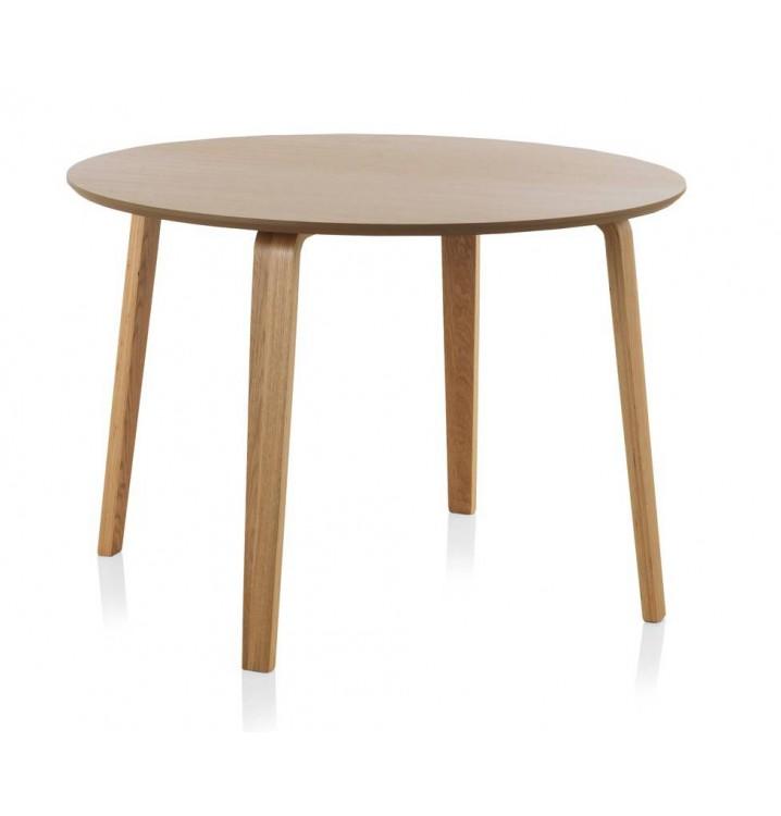 Mesa redonda comedor madera roble finland modelo 3 - Mesa comedor redonda madera ...