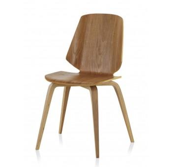 Set 4 sillas madera roble Finland modelo 3