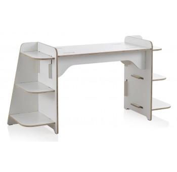 Mesa estudio Kids madera blanca con estantes