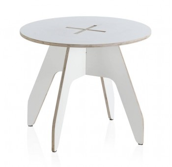 Mesa redonda Kids madera blanca