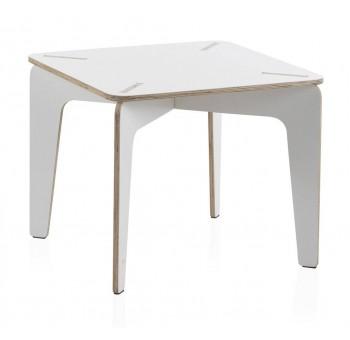 Mesa cuadrada infantil Kids madera blanca
