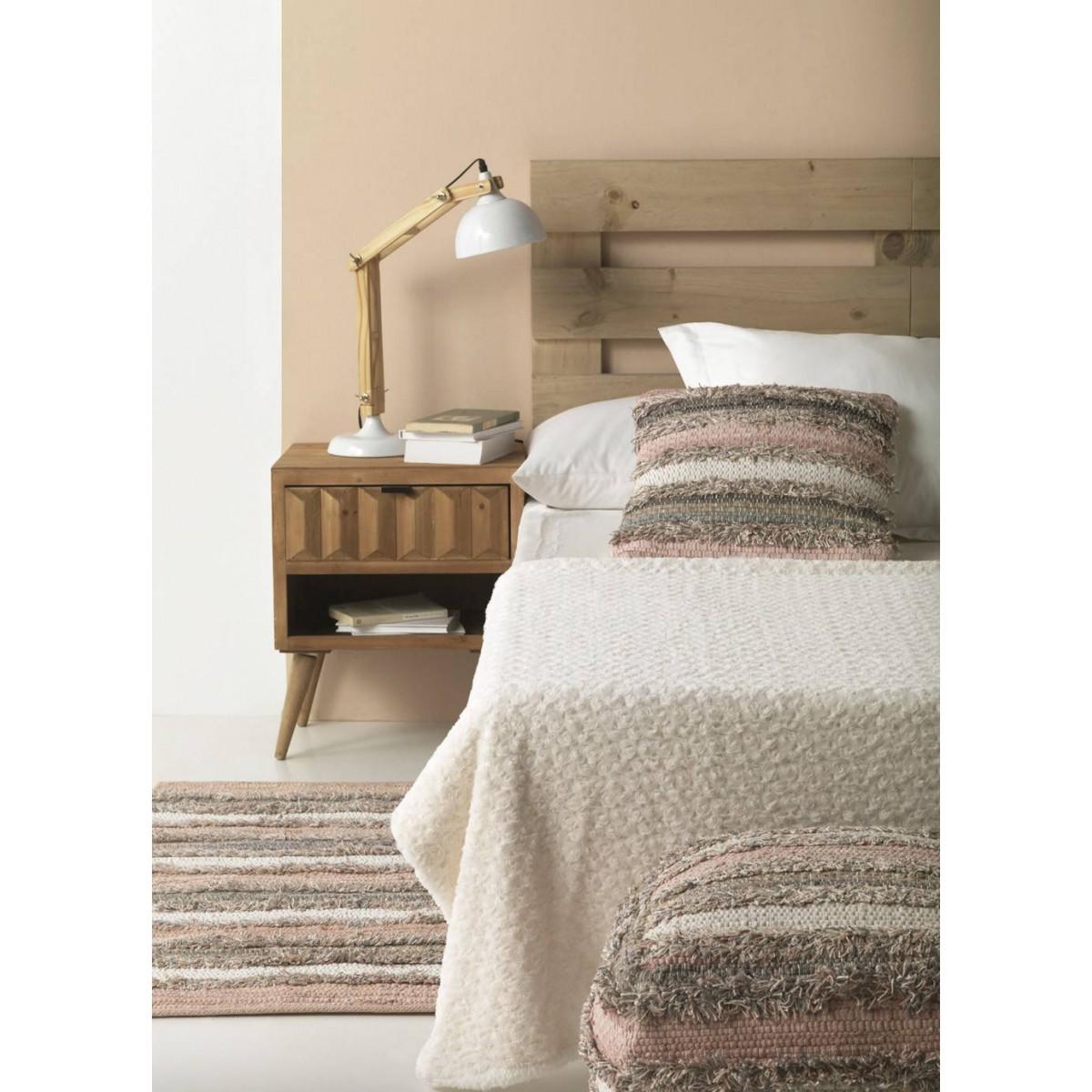 Alfombra algod n flecos multicolor pie de cama - Alfombras pie de cama ...