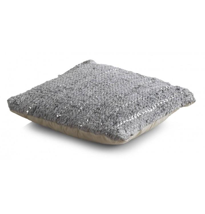Cojín algodón gris piel