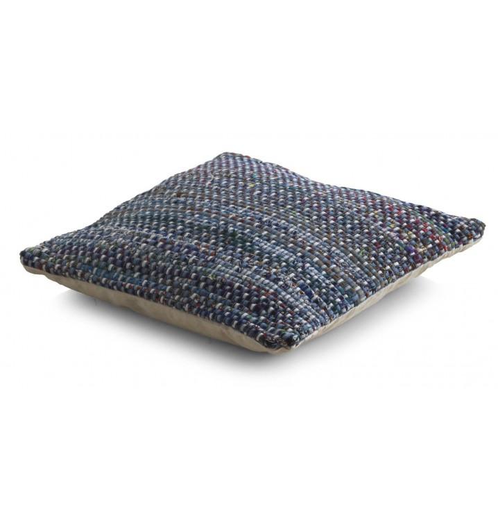 Cojín algodón azul multicolor