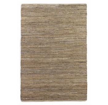 Alfombra 180x240 algodón y yute marrón multicolor