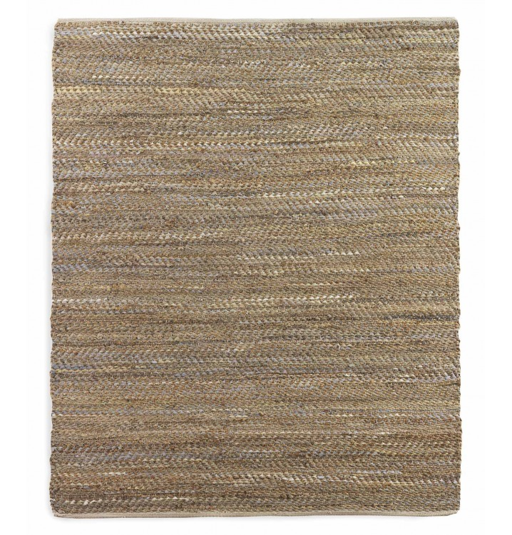 Alfombra 60x120 algodón y yute marrón multicolor
