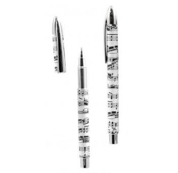Bolígrafo roller diseño claves musicales