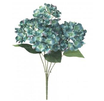 Ramo hortensias  azul 4 flores artificial