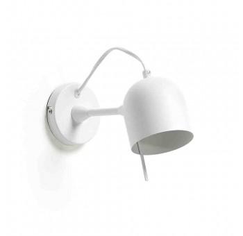 Lámpara aplique Melvin metal blanco pantalla imantada posición libre