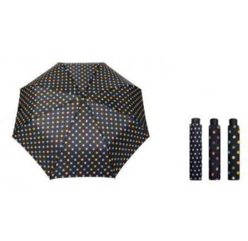 Paraguas mini azul plegable