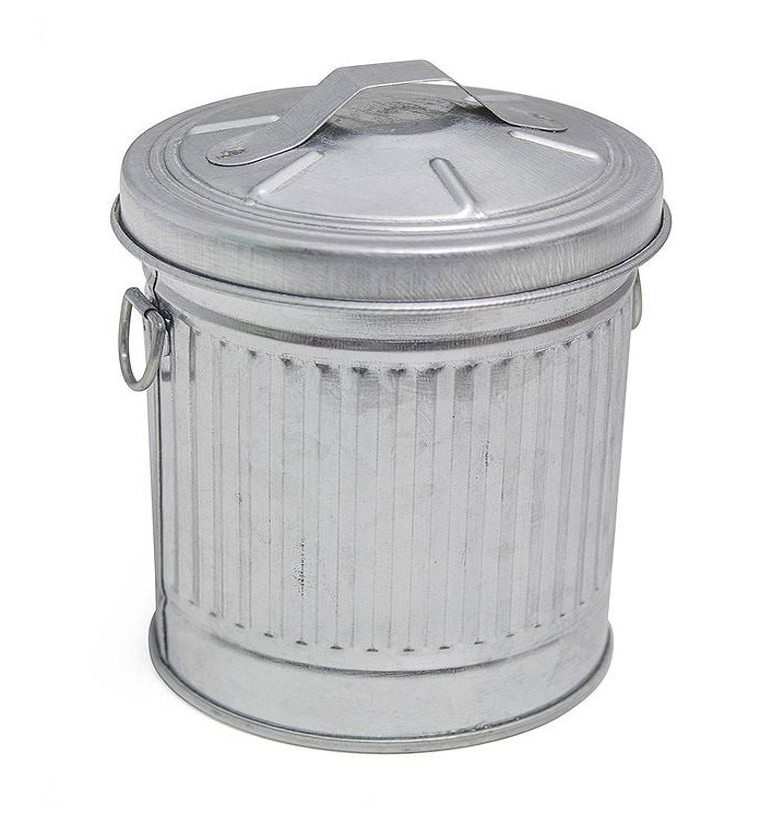 Cenicero dise o cubo basura americano zinc - Cubos de basura originales ...