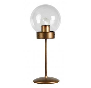 Lámpara de mesa Atomo Art Decó oro viejo transparente