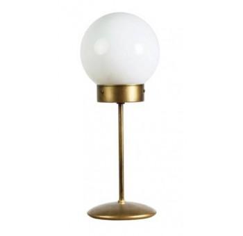 Lámpara de mesa Atomo Art Decó dorada tráslucida