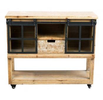 Colecci n industrial tiendas decoraci n industrial 4 - Mueble auxiliar con ruedas ...