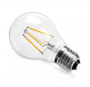 Bombilla luz cálida E27 filamento led cristal
