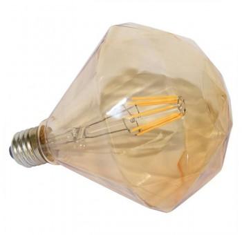 Bombilla Diamante luz ámbar E27 filamento led cristal