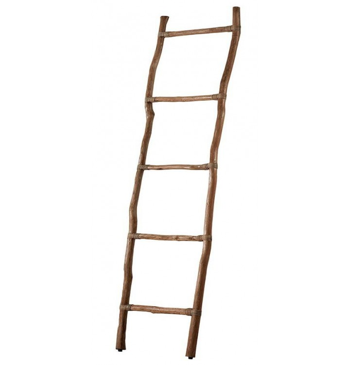 Escalera madera teka toallero marrón