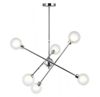 Lámpara de techo Atomo 6 globos cromada