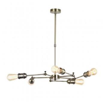 Lámpara de techo Crux 5 brazos oro viejo