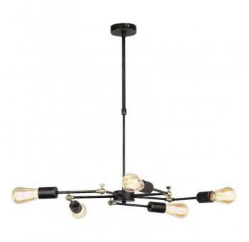 Lámpara de techo Crux 5 brazos negra