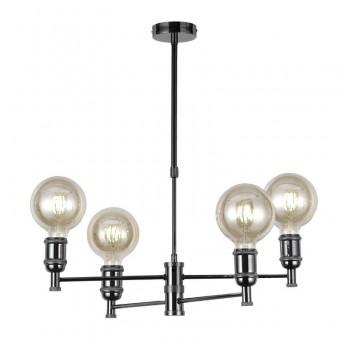 Lámpara de techo Orión grafito 4 brazos globo