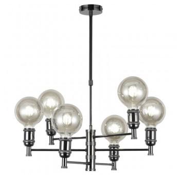 Lámpara de techo Orión grafito 6 brazos globo
