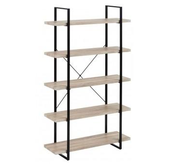 Estantería Herman gris 5 baldas madera metal industrial