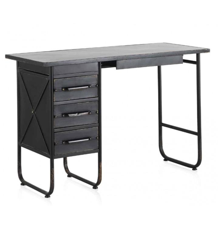 Mesa escritorio metal Baxter industrial negra