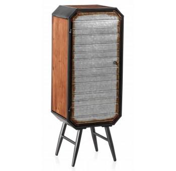 Armario Domtar 1 puerta madera y metal industrial
